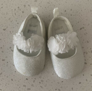 carters baby girl shoes 3-6 months dressy white