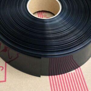 Φ44mm Width 70mm Black Battery Sleeve Electrical Wrap PVC Heat Shrink Tubing