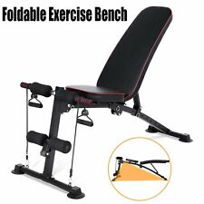 New listing 330LBS Adjustable Weight Bench Incline Decline Folding Body Sports Training Gym