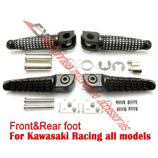 Motorcycle Front&Rear Footrests Foot pegs For Kawasaki Z750 Z800 Z1000 ER6F ER6N