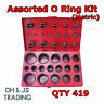 Assorted O-Rings Kit Metric 32 Sizes Hinged Box (Moulded) Qty 419 Popular