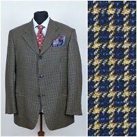 Mens Check Dark Blue Wool Sports Jacket Blazer JOOP! SIZE L Large UK 42