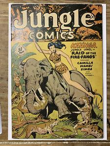 Jungle Comics #110/Golden Age Fiction House Comic Book/Matt Baker/FN-
