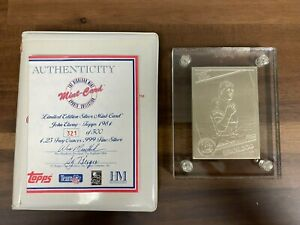 Highland Mint Topps 1984 John Elway Rookie Limited Edition of 500 SILVER RC Card