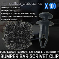100 For Ford Falcon Territory 6mmPlastic Scrivet Clip Retainer Cover Clip Repair