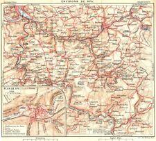 BELGIUM. Spa. Town city ville plan carte map 1924 old vintage chart