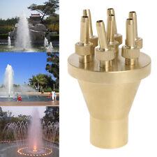 "1"" DN25 Fountain Sprinkler Nozzle 2 Tier Center Straight Water Spray Head Garden"