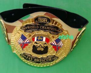 ROH championship belt Adult size 4mm ZINC  plates Deep Etching