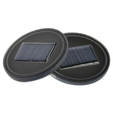 New 2x Car Solar Energy Cup Holder Bottom Pad Mat Blue LED Light Cover Trim Lamp