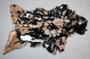 "New Goat hide Rug Hair on Area Rug Size 33""x20"" Animal Leather Goat Skin U-3399"