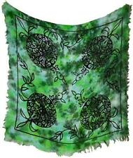 "18""x18"" Fringed Green Man Altar Cloth!"