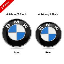Genuine Front Hood & Rear Trunk (82mm & 74mm) For Bmw Badge Emblem Optional
