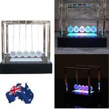 AU Stock Newtons Cradle Light Up Pendulum Physics Gift Balance Ball Decor Fun