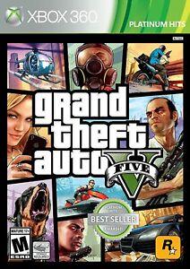 Grand Theft Auto V 5 ( Microsoft Xbox 360, 2013) NEW Sealed
