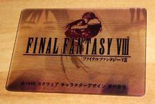 FINAL FANTASY VIII LIMITED CARD PRISM HOLO 3D CARD MADE IN JAPAN 1999 FF8 U.RARE