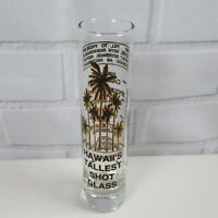 Hawaii's Tallest Shot Glass Fill To Problem Measurements Black Gold Palm Trees