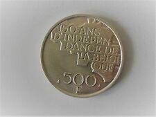 500 Frank 5 gr zuiver zilver, 150 j. onafhankelijkheid,  5 Koningen,1980 frans