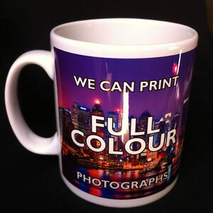 Brand New Personalised Gift Mug Custom Printed Tea Coffee Mug Photo Text Logo