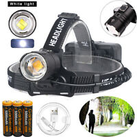 990000LM XHP70.2 LED Headlamp Head Lamp USB Rechargeable Headlight+18650 Battery