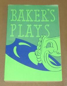 Bakers Plays Season 1958-1959 New Publications Scripts List and Price Guide
