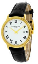 Raymond Weil Toccata White Dial 39mm Gold/Leather Men's Watch 5485-PC-00300