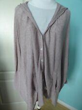 Diesel beige oversized linen blend cardigan jumper hoodie size M 10 12 14
