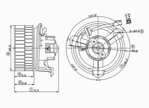 HVAC Blower Motor Front TYC 700093