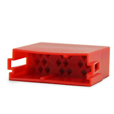 Mini ISO Leer Gehäuse Micro Timer Kontakt Stecker Radio 20 Pin Rot für VW Seat
