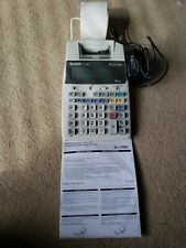 Sharp El-1750V 12 Digit 2-Color Printing Desktop Calculator Used