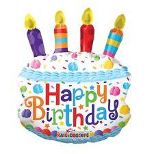 "Birthday Party Decoration Mini Birthday Cake Air Fill 14"" Foil Balloon"