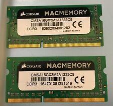 Corsair PC3-10600 8GB SO-DIMM 1333 MHz PC3-10666 DDR3 SDRAM Memory...
