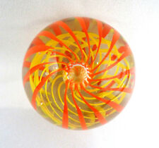 Glass Art Glass Vintage Signed Joe St.clair Irridescent Owl Paperweight Vivid And Great In Style