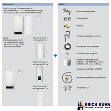 Buderus GB172 Gas Brennwert Komplettpaket W22 mit 14 kW und S120 Speicher