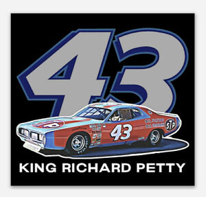 Richard Petty NASCAR Retro Vinyl Sticker Decal