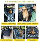 DEKO Dog Seat Cover 5 n 1 Travel View Pet Carrier Safety Protector (blue camo)