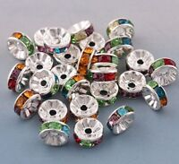 Lot 100 Pieces Perle Rondelle Fleur intercalaire 4mm Marguerite creation bijoux