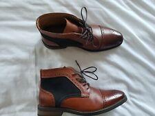 Men's La Milano Leather Boots Size 11 Whiskey Color Cap Toe Brown