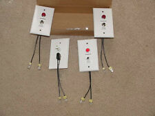 4 - Iota Emergency Lighting Push To Test Charge Light Faceplate 2 Plugs White