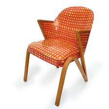 50er Schwingstuhl Stuhl Freischwinger Arm Chair Sessel Vintage Holz Orange Rot