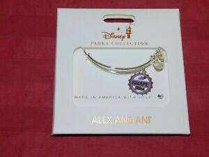Disney Parks ALEX & ANI Bracelet UP Grape Soda Silver Tone - NEW