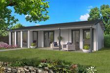 70 mm Ferienhaus ISO (4 Räume) 1120x595cm Gartenhaus Blockhaus Holzhaus Schuppen