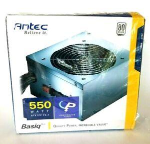 Power Supply Antec BP 550w ATX12V Factory Sealed 80+Certified 3 12 V Output Cir.