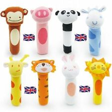 Baby Soft Animal Toy Rattle Squeaker Plush Suitable For Infant UK SELLER kids
