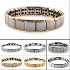 Mens Germanium Bracelet Stainless Steel Bangles Magnetic Therapy Pain Relief