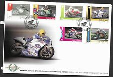 GB Isle of Man 2009 FDC Honda 50 yrs World Championship Racing fine used stamps