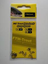 FTM Snap Spoon Duo Lock NG Trout Forelle Zum Einhängen Spoonangeln Snaps 15 Stk.