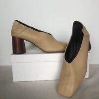 Helmut Lang Square Toe Mule Leather Pumps Size 39
