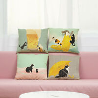 Cute Cat Sofa Bed Home Room Decoration Festival Pillow Case Cushion Cover
