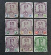 nystamps British Malaya Johore Stamp # 88//109 Mint OG H $43