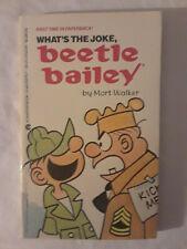5 hardly early Beetle Bailey mass-market paperbacks by Mort Walker (1987-88)